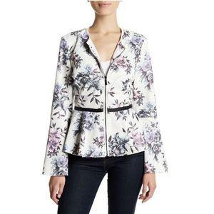 Bagatelle Zip Up Jacket Size S Faux Leather Peplum